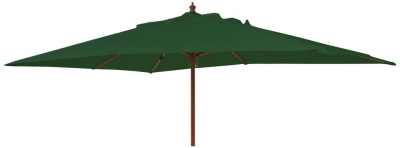 Alexander Rose Hardwood Green 300cm Rectangular Parasol