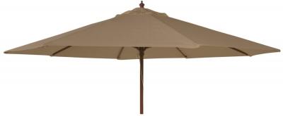 Alexander Rose Hardwood Taupe 300cm Round Parasol