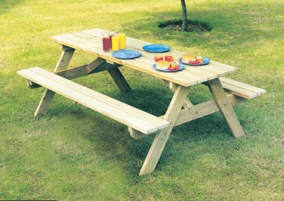 Alexander Rose Pine Woburn Picnic Table 6ft
