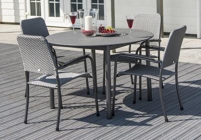 Alexander Rose Portofino Stone Top 118cm Round Dining Table