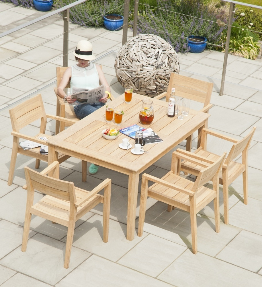 Alexander Rose Roble Rectangular Dining Table