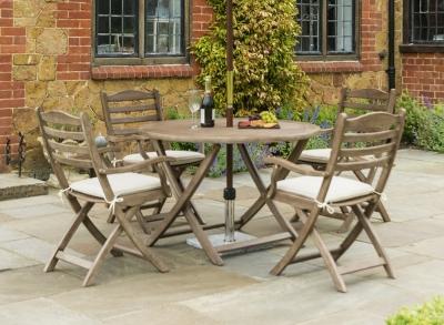 Alexander Rose Sherwood 110cm Round Folding Dining Table