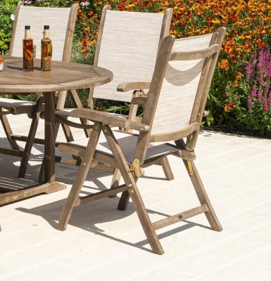 Alexander Rose Sherwood Barley Sling Recliner Dining Chair (Pair)
