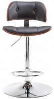 Alphason Victoria Faux Leather Bar Stool - Walnut and Black