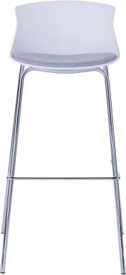 Alphason Helena White Bar Stool - ABS7085WHT