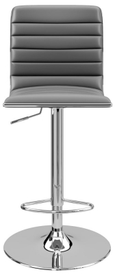 Alphason Colby Grey Faux Leather Bar Stool - ABS1301-GRY