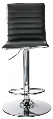 Alphason Colby Black Faux Leather Bar Stool - ABS1301-BLK