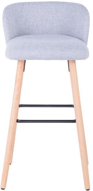 Alphason Claremont Grey Fabric Barstool - ABS2169GRY