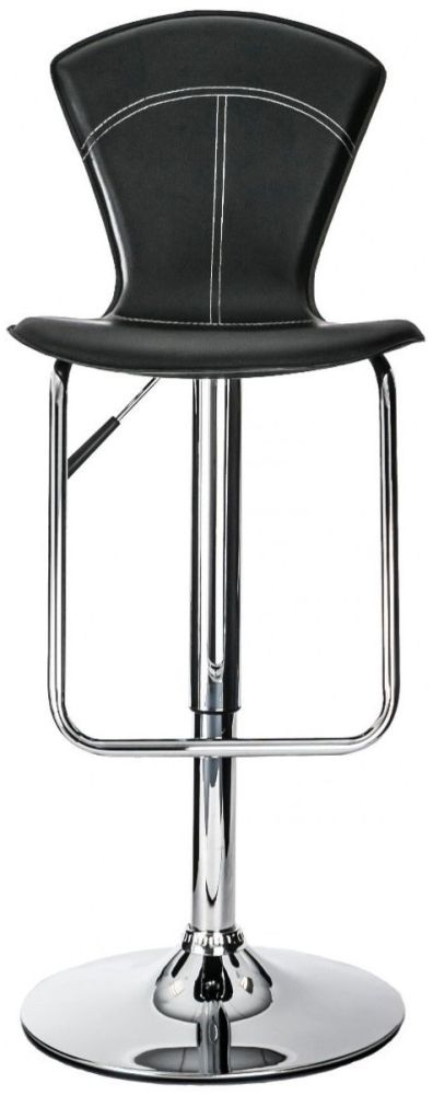 Alphason Virginia Black High Back Bar Stool