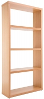 Alphason Maine Beech Wide Bookcase