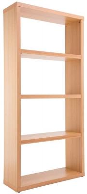 Alphason Maine Beech Wide Bookcase