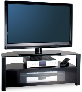 Alphason Ambri Black TV Unit - ABRD1100-BLK