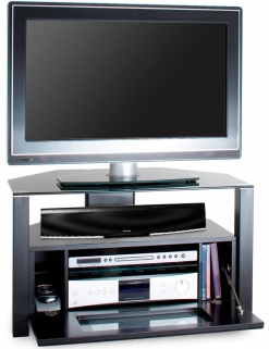 Alphason Ambri Black TV Unit - ABRD800-BLK