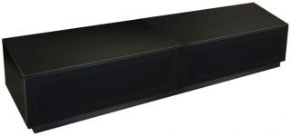 Alphason Element Black TV Cabinet - EMTMOD1700-BLK