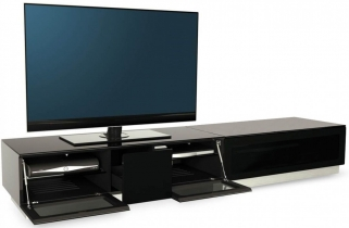 Alphason Element Black TV Cabinet - EMTMOD2100-BLK