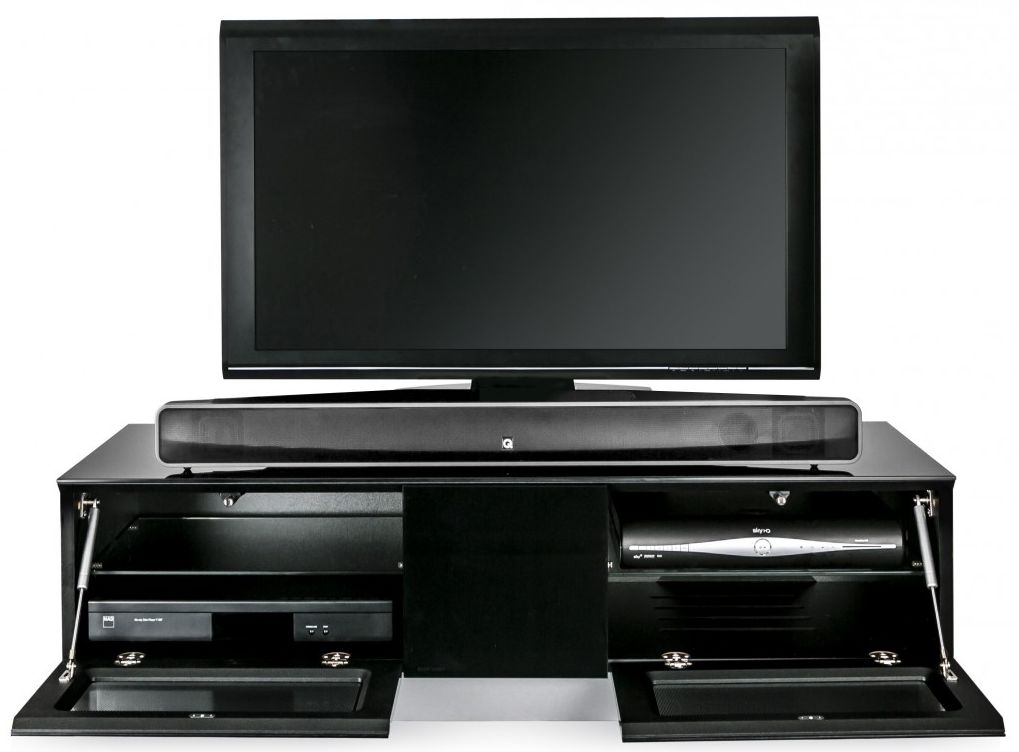 Alphason Element Black TV Cabinet - EMTMOD1250-BLK