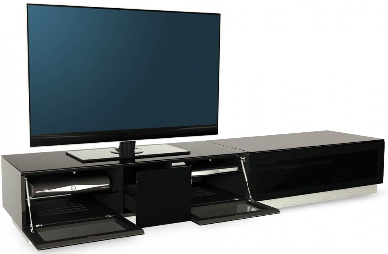 Alphason Element Black TV Cabinet for 82inch - EMTMOD2100-BLK