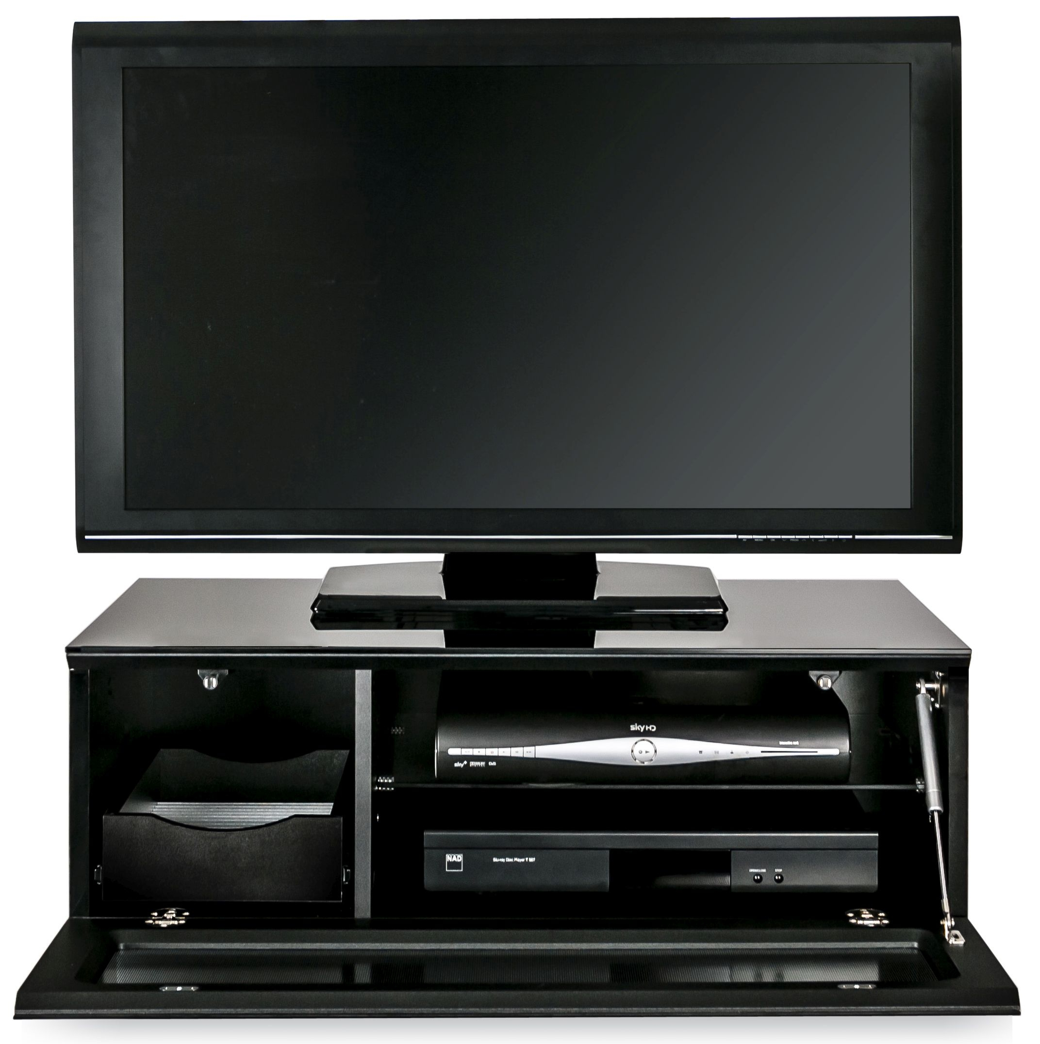 Alphason Element Black TV Cabinet for 39inch - EMTMOD850-BLK