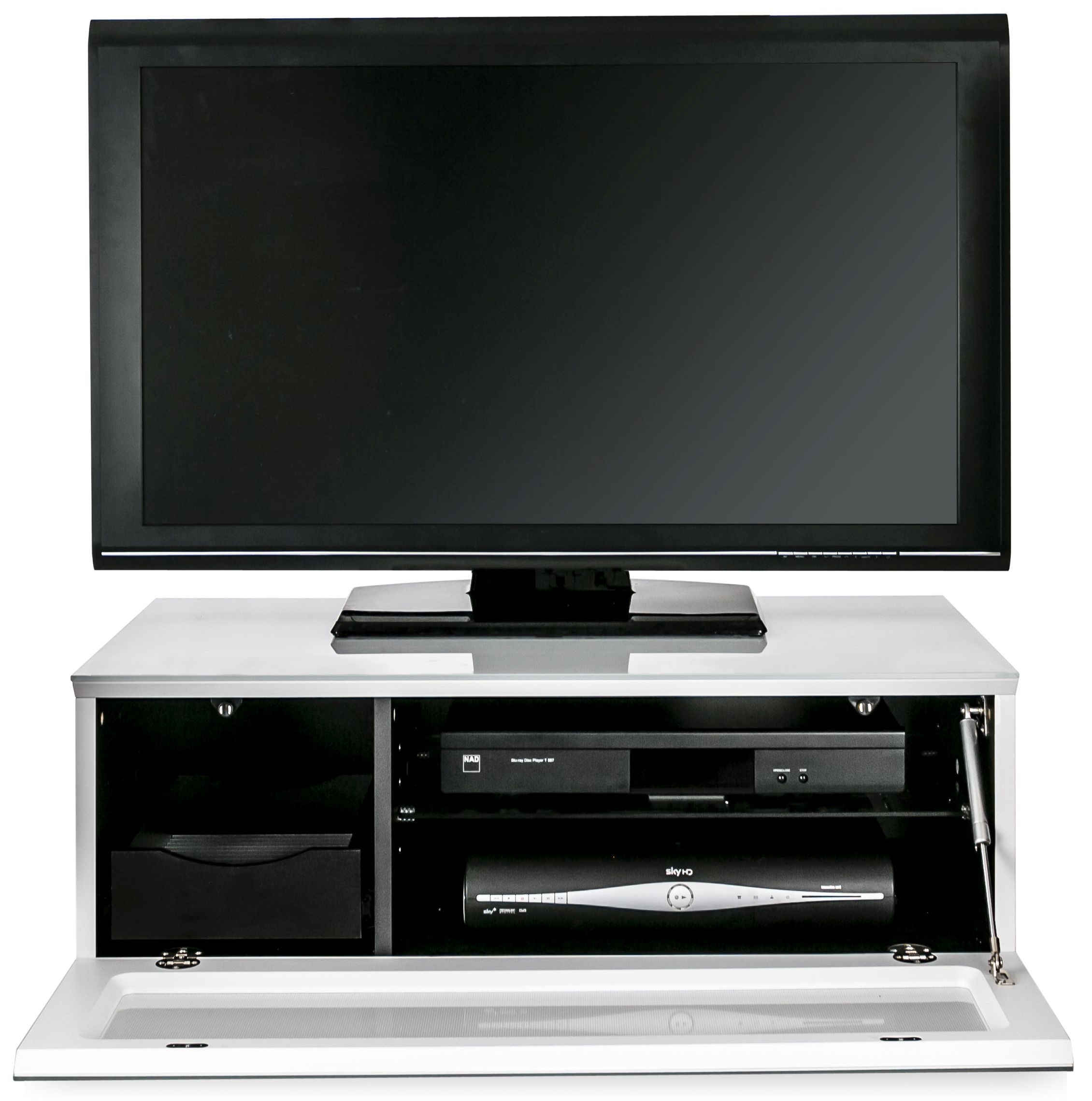 Alphason Element White TV Cabinet for 39inch - EMTMOD850-WHI