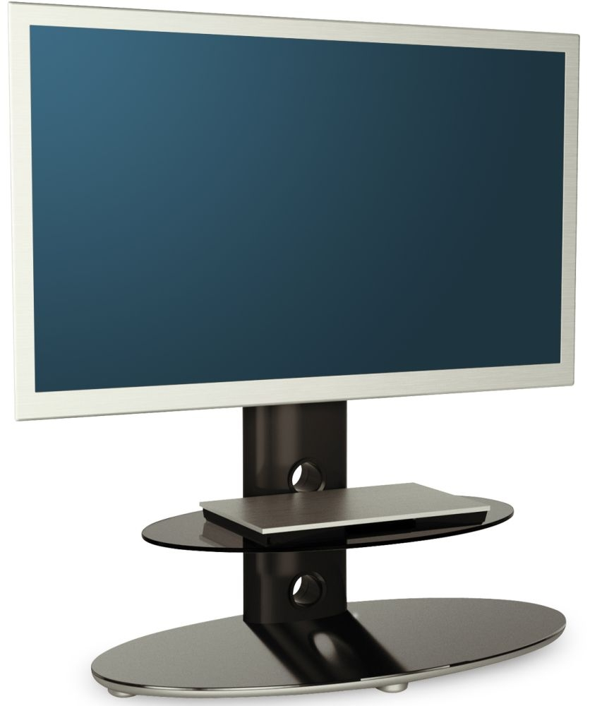 Alphason Gradino Black Titanium Cantilever TV Stand - GRDB800-2-PB