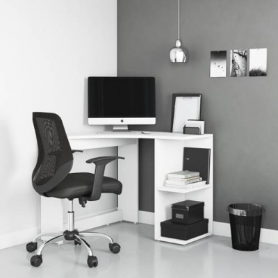 Alphason Chesil White Corner Desk - AW3120