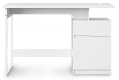 Alphason Bridport Glossy White Computer Desk - AW3130