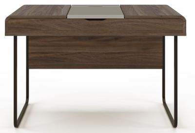 Alphason Dorset Walnut and Grey Computer Desk - AW3170