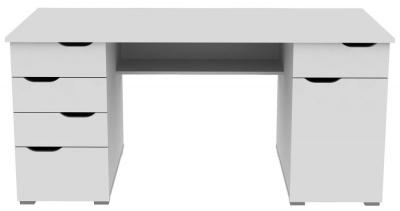 Alphason Kentucky White Computer Desk - AW1374WHT