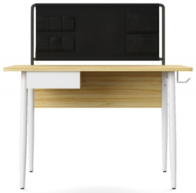 Alphason Freemont White and Light Oak Desk - AW3617WHI
