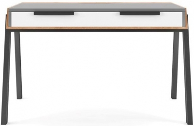 Alphason Geneva Grey and White Writing Desk - AW3608