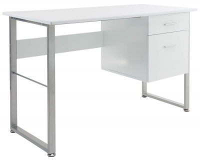 Alphason Cabrini White Office Desk - AW22226-WH
