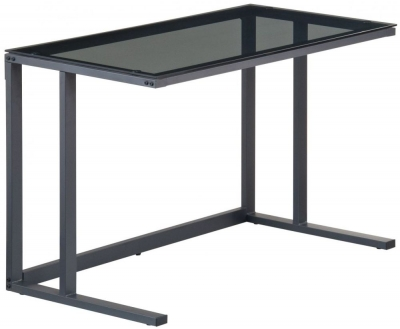 Alphason Air Black Smoked Glass Desk AW53385