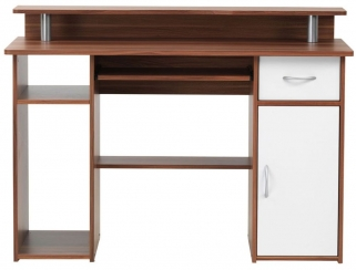 Alphason Albany Walnut Panel Workstation - AW12362-W