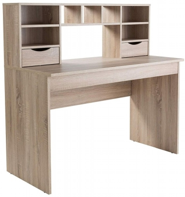 Alphason Albion Light Oak Desk - AW2120