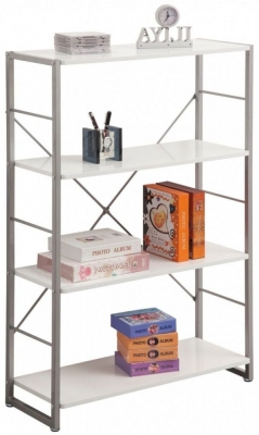 Alphason Cabrini White Modern Bookcase ABC65043-WH