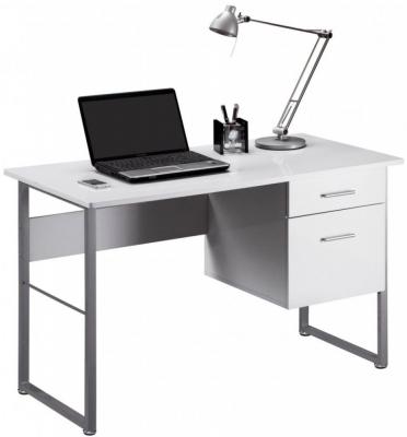Alphason Cabrini White Modern Desk AW22226-WH