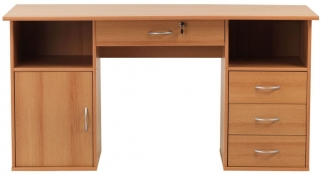 Alphason Dallas Beech Panel Workstation - AW12289