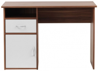 Alphason Hastings Walnut Panel Workstation - AW22145