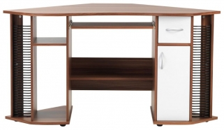 Alphason Lyndon Walnut Corner Panel Workstation - AW12106