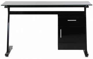 Alphason Montana Black Premium Glass Furniture - AW233314D-BK