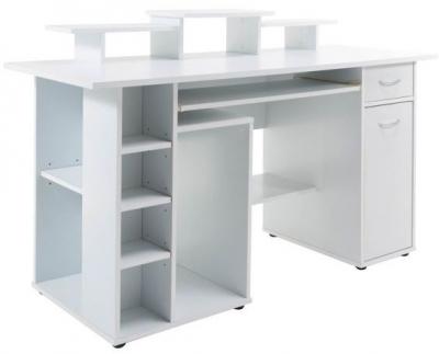 Alphason San Deigo White Computer Desk - AW12004WHI