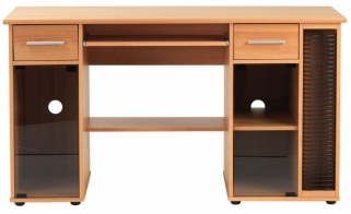 Alphason San Jose Beech Panel Workstation - AW12007