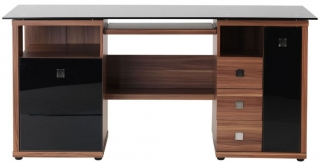 Alphason Saratoga Walnut Premium Wood Furniture - AW14004-W