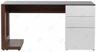 Alphason Sorbonne Walnut Computer Desk - ADSOR150-W