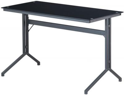 Alphason Splice Charcoal Smoked Glass Desk AW53360