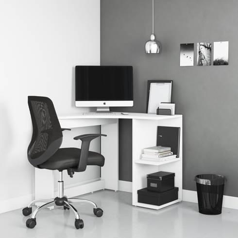 Alphason Chesil White Corner Desk - AW3120