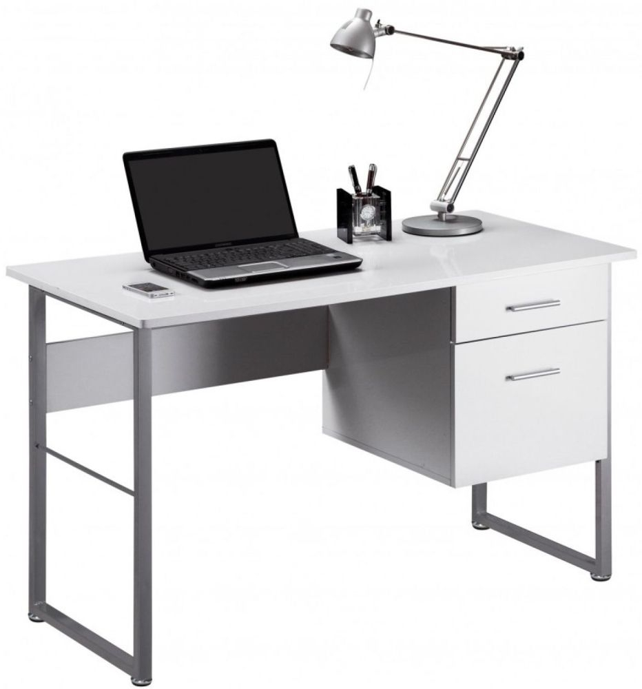 Buy alphason cabrini white modern desk aw22226 wh online for White modern office furniture