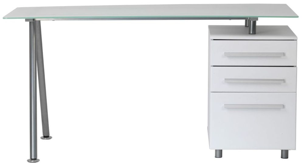 Alphason Cleveland 3 White Premium Glass Furniture - AW23996-1