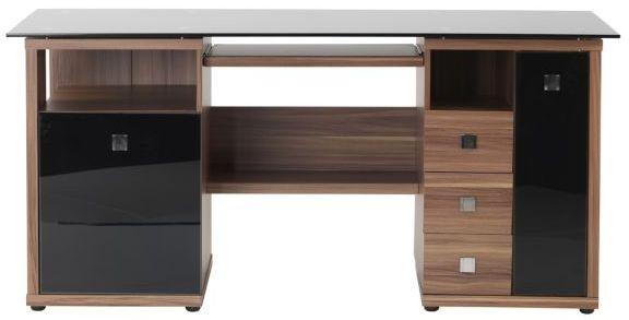 Alphason Saratoga Walnut Computer Desk - AW14004-W
