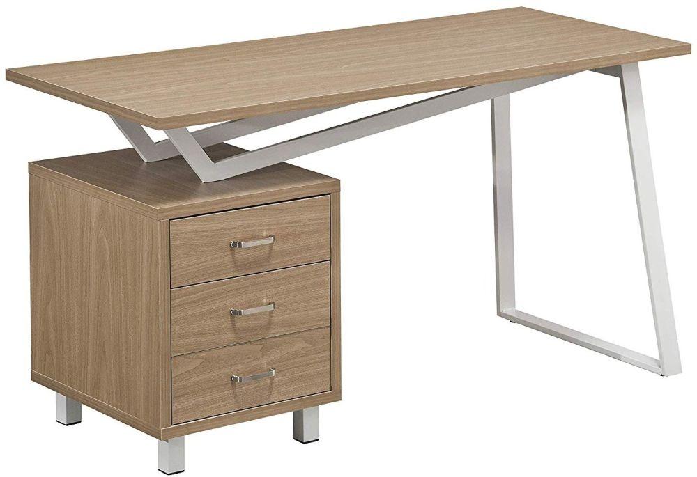 Alphason Seattle Light Oak Computer Desk - AW23533